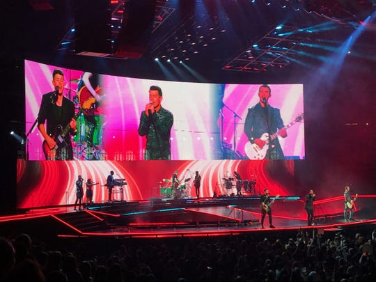 The Jonas Brothers at the Prudential Center in Newark on Friday, Nov. 22, 2019.