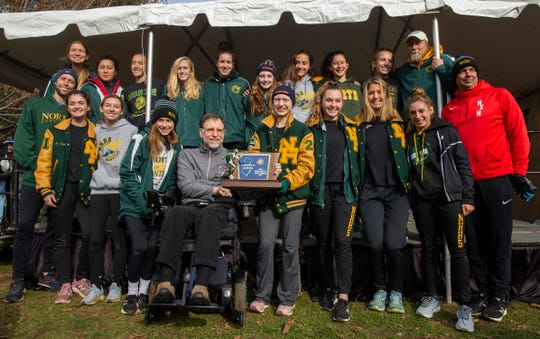 The North Hunterdon girls cross country team won its third-straight Meet of Champions title on Saturday, Nov. 23, 2019.