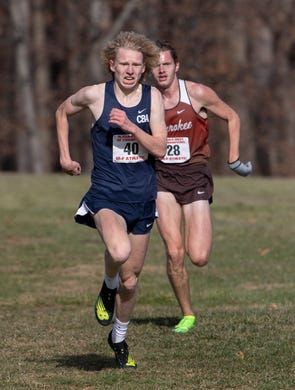 CBA Show Powell competes inthe boys race at NJSIAA Boys Cross Country Meet of Champions at Holmdel Park, Holmdel, NJ on November 23, 2019.
