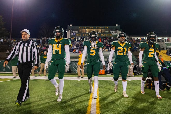 Reynolds defeated Northeast Guilford 40-0 in the second round of the NCHSAA playoffs at Reynolds High School on Nov. 22, 2019.