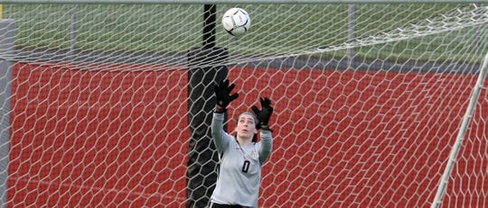 Central Kitsap goalkeeper Kiley Hall and the Cougars finished out the season Saturday with a 1-0 win against Lakeside to finish third at the Class 3A state girls soccer tournament.