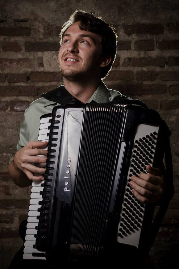 Accordionist Gabe Hall-Rodrigues performs with Gypsy jazz outfit Ranger & The Re-Arrangers Nov. 29 at the Bainbridge Island Museum of Art.