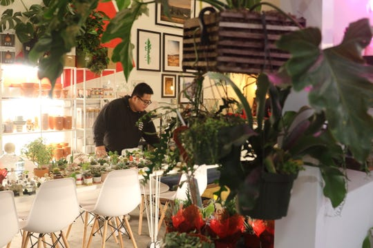John Melicor is the owner of the Urban Plant Shop in downtown Bremerton. The Navy veteran now studying architecture opened the space for his store earlier this month.
