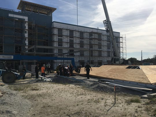 Brevard County Fire Rescue responded to construction site in Viera where two people were injured.