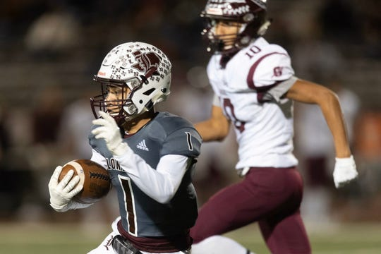 London faced Ganado in a Class 3A Division II area round playoff game in La Vernia, Texas on Friday, Nov. 22, 2019.