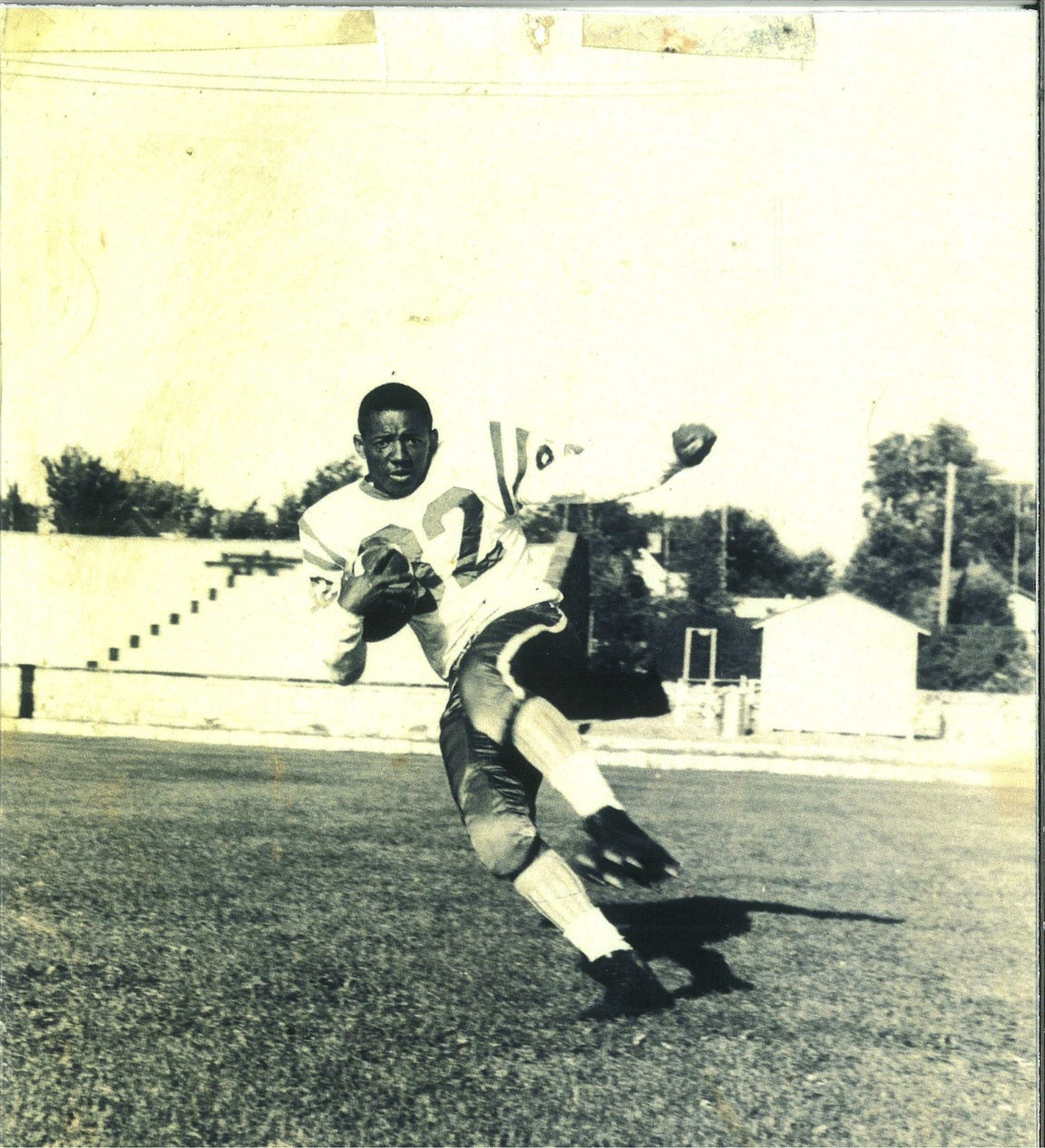 Running back James Lott integrated the Refugio football team in 1955 and went on to play college football in New Mexico.