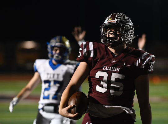 Calallen faced Kerrville Tivy in a Class 5A Division II area round playoff game in Floresville, Texas on Friday, Nov. 22, 2019.