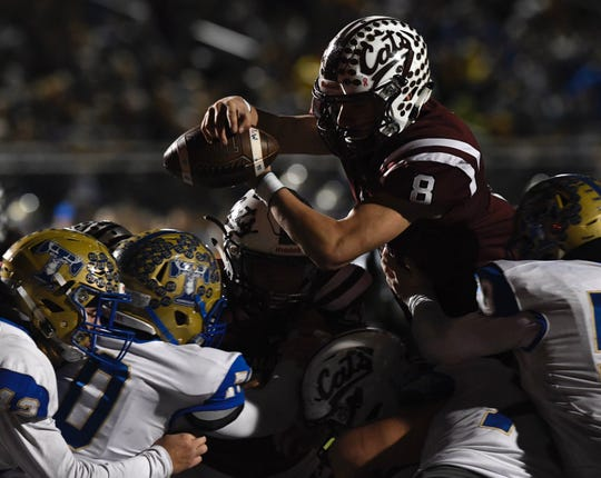 Kerrville Tivy faced Calallen in a Class 5A Division II area round playoff game in Floresville, Texas on Friday, Nov. 22, 2019.