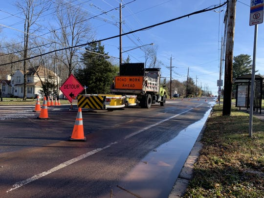A water main broke on Finderne and Union avenues in Bridgewater causing detours.