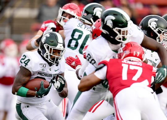 This could be a big day for MSU running back Elijah Collins, who needs 149 yards to reach 1,000 for the season.
