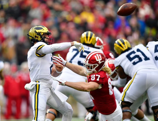 Shea Patterson tossed five TDs vs. Indiana.