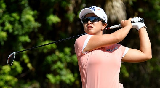 Sei Young Kim tees off on seventh hole during the LPGA Tour Championship.