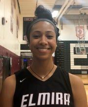 Elmira High School senior basketball player Zaria DeMember-Shazer.