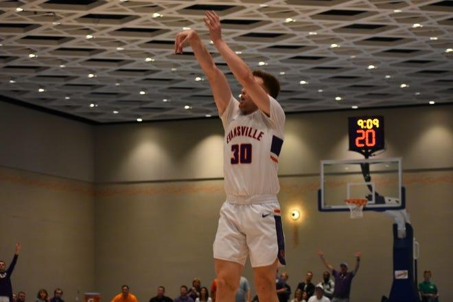 Noah Frederking shoots against East Carolina.