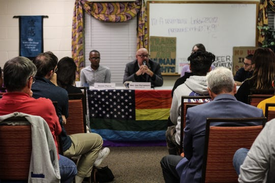 Community members gathered at the Florida People's Advocacy Center for a discussion about a ban on conversion therapy for LGBTQ+ youth.