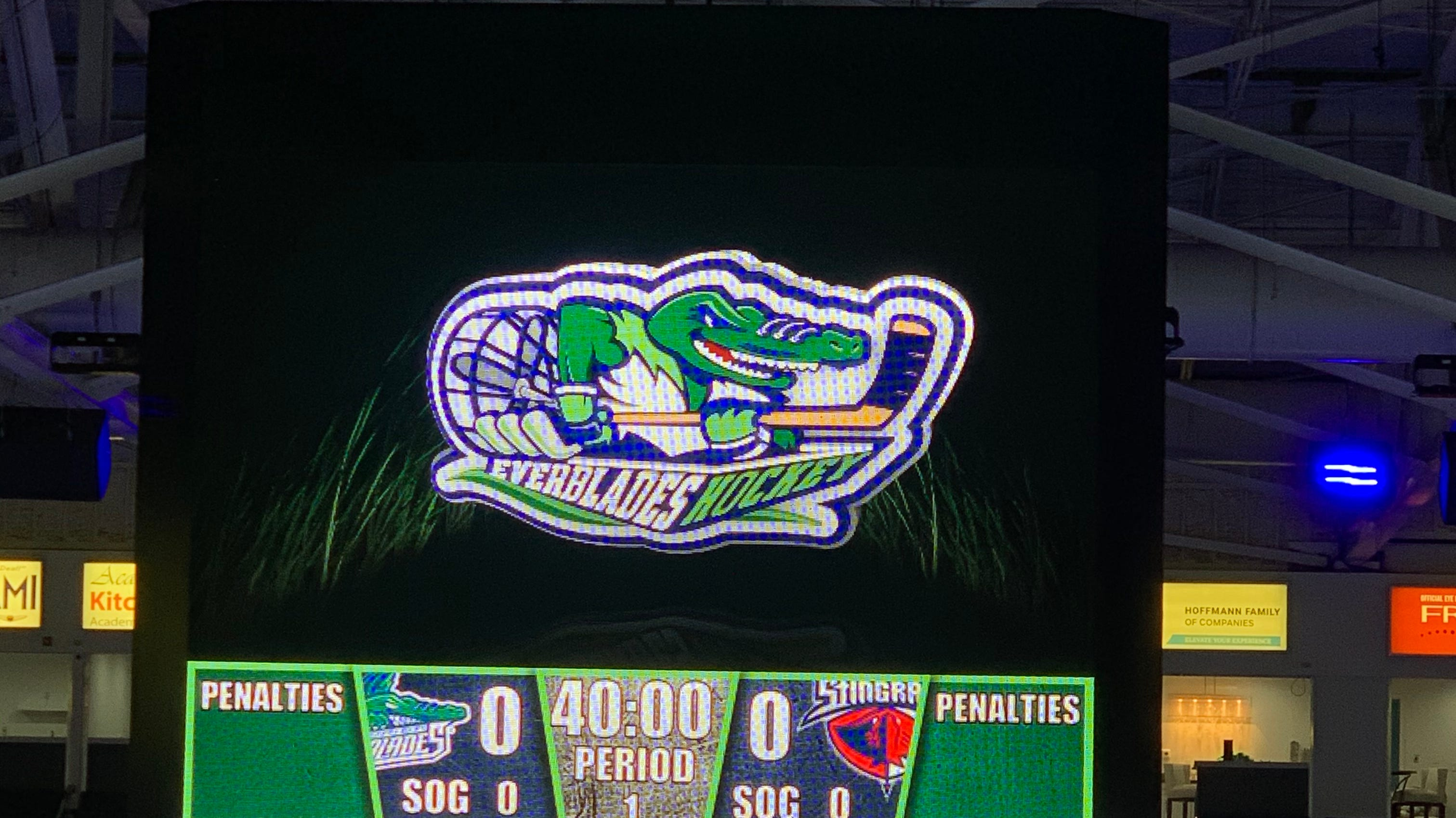 David Hoffmann enthused with Everblades first half, Hertz Arena renovations