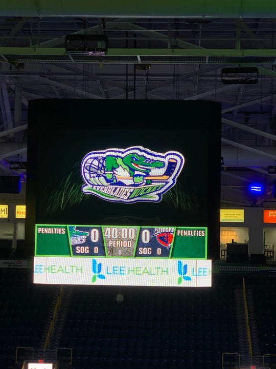 Hertz Arena received a new addition Friday evening, which was a new video board above center ice.