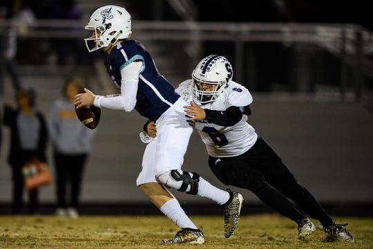 In his first game back since a late-season injury, Southside Christian's J.W. Hertzberg (7) passed for 416 yards with five touchdowns.