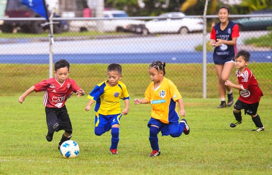 Hundreds of players, coaches, family members and other supporters came out to cheer for their favorite athletes during the Triple J Auto Group Robbie Webber Youth League 2019 Fall Season Jamboree at the Guam Football Association National Training Center in Dededo on Saturday, Nov. 23, 2019.