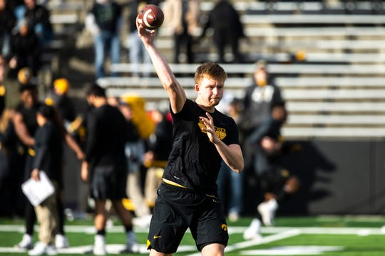 Spencer Petras will be under the spotlight this fall as Iowa's new starting quarterback.