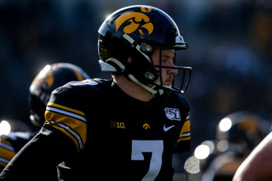 Spencer Petras is in line to be Iowa's next starting quarterback after spending 2019 backing up Nate Stanley.