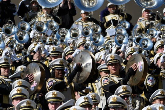 The Purdue Boilermakers band plays during the first half Nov 9, 2019; Evanston, IL, USA;  at Ryan Field. Mandatory Credit: David Banks-USA TODAY Sports