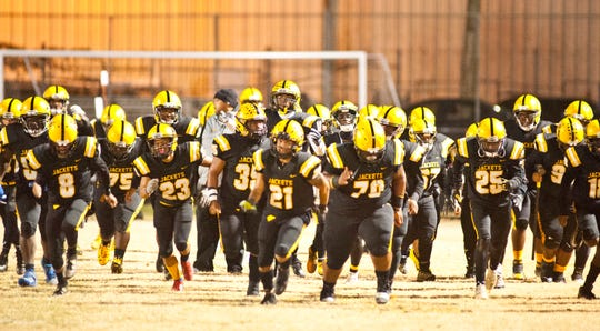 The Central Yellowjackets take to the field against Moore.22 November 2019