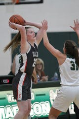Shelby's Emma Randall scored 23 points in her senior season debut in a win over Madison last week.