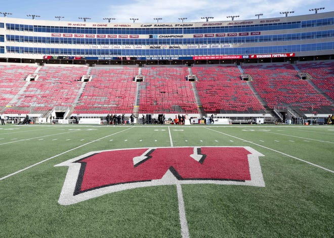 The field  at Camp Randall Stadium is ready before the UW game against Purdue in Madison on Nov. 23, 2019.