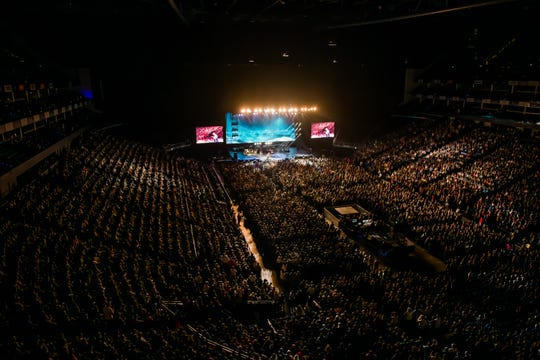 Brad Paisley performed for more than 11,000 people in London's 02 Arena in October, 2019.