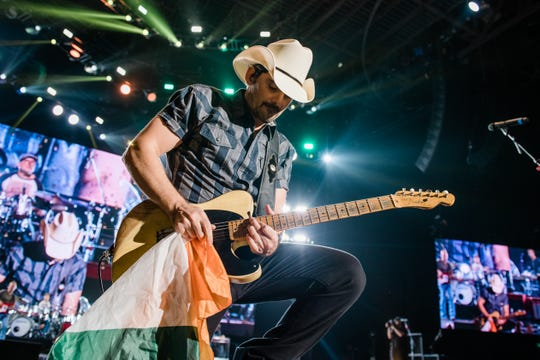 Brad Paisley plays for a soldout crowd in Dublin, Ireland's 3Arena in October of 2019.
