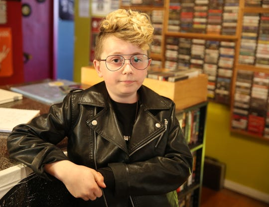 Jackson Tyskewicz was diagnosed with a rare disease called Rasmussen's encephalitis, when he was 4 years old. The only cure was to remove half of his brain. Now age 10, Jackson runs a business selling patches, stickers and pins inside his father's shop at Eyconik Records and Apparel.