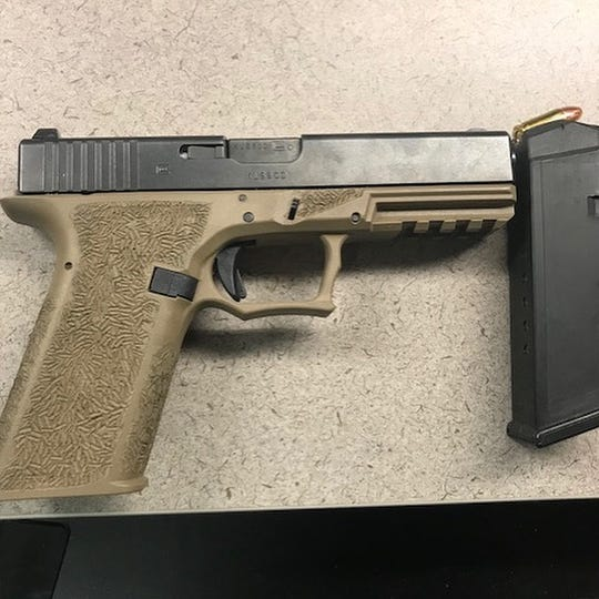 Roy Becerra allegedly had in his possession a loaded 9mm handgun he was legally not permitted to carry, Indio police said.