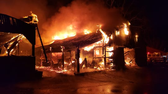 First responders battled a two-alarm blaze at Edition Farm in Clinton Friday night.