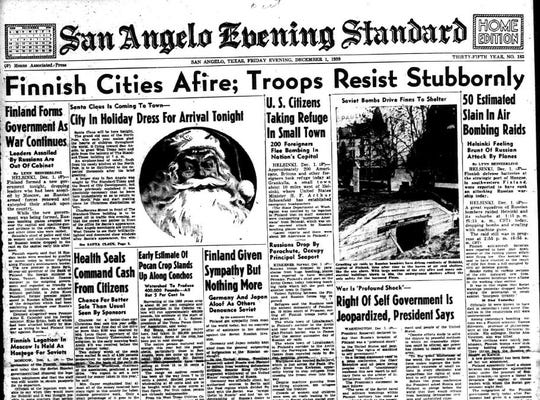 In December of 1939, the headlines were dominated by news from the war in Europe, and  stories speculated on whether the United States would be drawn into the conflict.