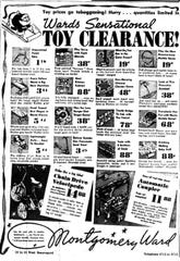 When national stores like Montgomery Ward and Sears opened in San Angelo, they brought a wider selection of toys that locals had been used to. This advert is from the Standard-Times in December of 1939.