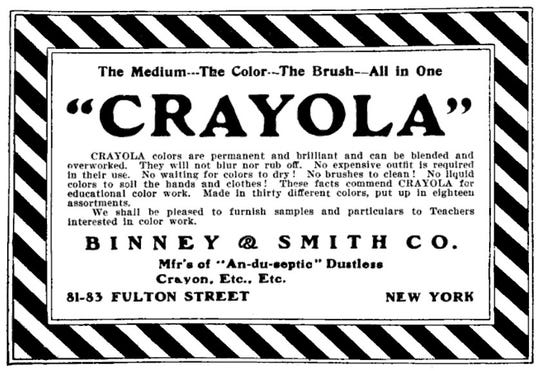 Crayola crayons from Binney & Smith debuted in 1903 and have been popular with young artists ever since.