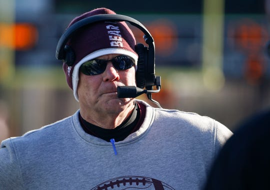 Missouri State head coach Dave Steckel during a game against the Indiana State Sycamores at Plaster Field on Saturday, Nov. 23, 2019.