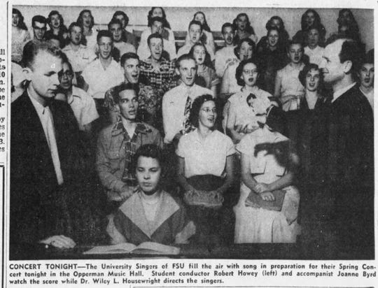 Joanne Byrd, the woman who would later marry Fred Rogers, was featured in a 1952 edition of the Tallahassee Democrat.