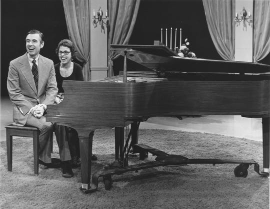 The late TV host Fred Rogers and his wife and acclaimed pianist, Joanne Rogers, who earned a master's degree from Florida State University.