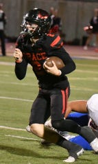 Quarterback Mikey Zele ran for the game-winning touchdown in the final seconds to cap Grace Brethren's wild victory over La Habra in a CIF-SS Division 3 semifinal game Friday night at Royal High.
