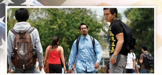 PLEASE TRANSLATE Roberto Rodriguez walks on the University of California-Riverside  campus In June of 2010 in Riverside, California.