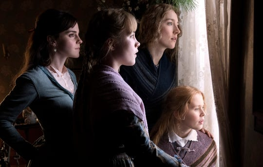 "Emma Watson (from left), Florence Pugh, Saoirse Ronan and Eliza Scanlen star as the March sisters in Greta Gerwig's ""Little Women."""