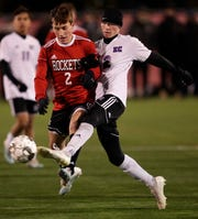 Neenah's Thomas Priest, left, earned all-state honors from the Wisconsin Soccer Coaches Association.