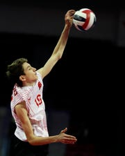 Kimberly's Landon Krause (10) was named the boys volleyball player of the year by the Wisconsin Volleyball Coaches Association.
