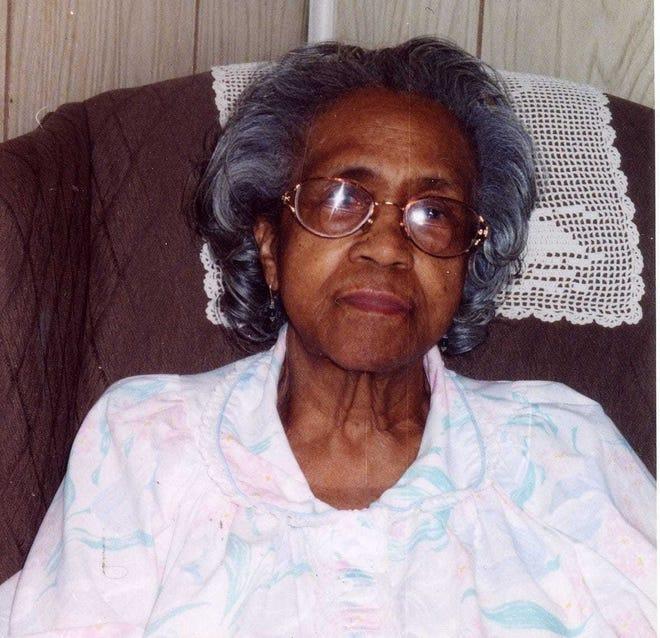 Inez Daugherty, in her 90s.