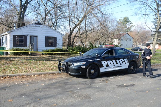 A Battle Creek man was found shot to death Saturday at this home on Boulder Street.