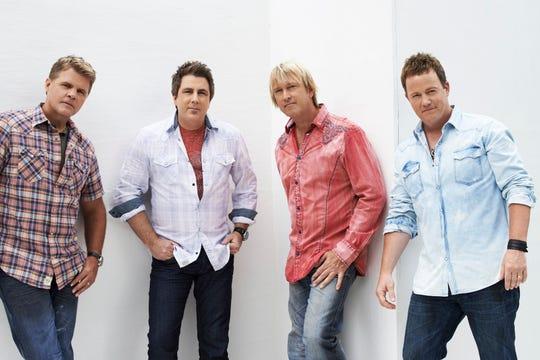 Lonestar are Richie McDonald (from left), Michael Britt, Keech Rainwater and Dean Sams.