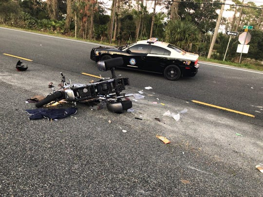One person reported dead following a crash involving a motorcycle, FHP says