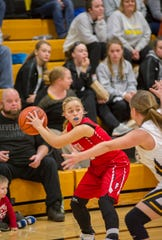 Plymouth's Bree Fellows has the Big Red at No. 11 in the Richland County Girls Basketball Power Poll.